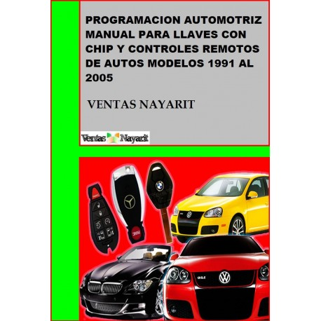 Programacion Automotriz Manual De Llaves y Controles Remotos